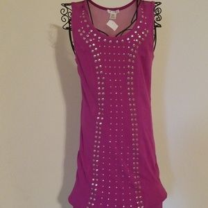 Purple stud dress
